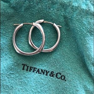 Tiffany and Co. beautiful sterling silver hoops